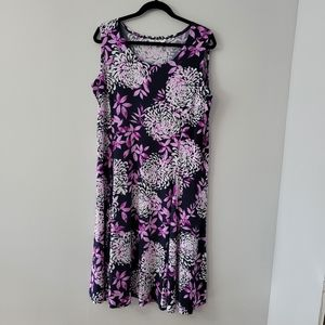 NWT TanJay  Floral Midi Dress SZ 18